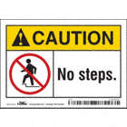 Caution: No Steps. Signs