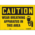 "Health Hazard, Caution, Vinyl, 10"" x 14"", Adhesive Surface, Not Retroreflective"