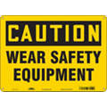 "Health Hazard, Caution, Aluminum, 10"" x 14"", With Mounting Holes, Not Retroreflective"
