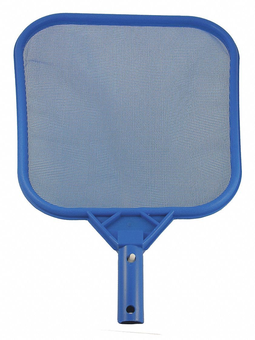 Built-In Handle Leaf Skimmer, Blue/Gray