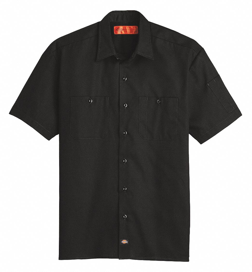 Marky G Apparel Womens Long Sleeve Specialized Pocketless Poplin Work Shirt