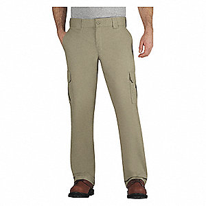 "Men's Work Pants, Cotton/Polyester, Color: Desert Sand, Fits Waist Size: 44"" x 30"""