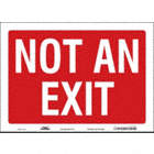 SAFETY SIGN,NOT AN EXIT,10