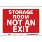 Storage Room Not An Exit Signs