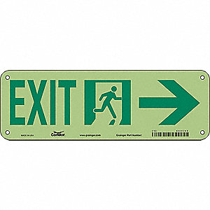 "Safety Sign,EXIT,7""x21"""