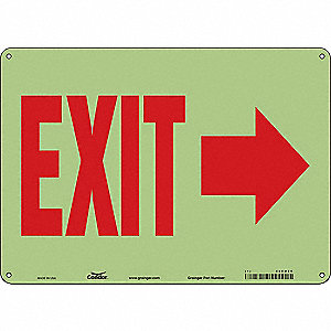 "Safety Sign, EXIT, 10""x14"""