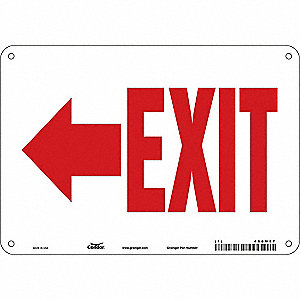 "Safety Sign, EXIT, 7""x10"""