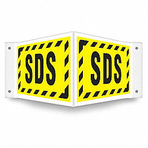 """HIGH VISIBILITY SAFETY SIGN,18"""" W,8"""" H"""