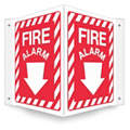"Fire Equipment, No Header, Plastic, 12"" x 14"", With Mounting Holes, Not Retroreflective"