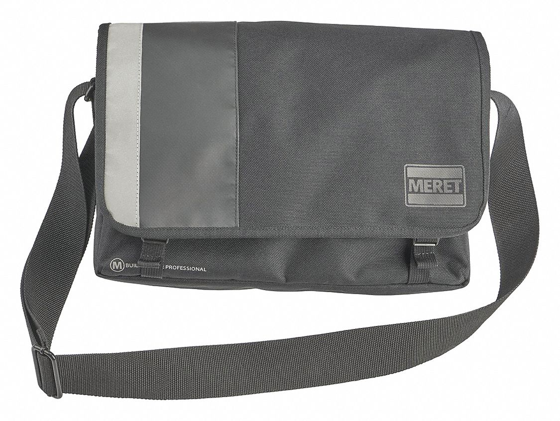 "Messenger Bag, 14"" W x 4"" D x 9"" H, Black"