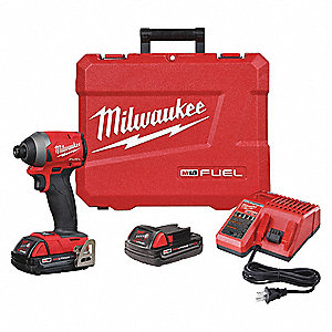 "1/4"" Cordless Impact Driver Kit, 18.0 Voltage, 2000 in.-lb. Max. Torque, Battery Included"