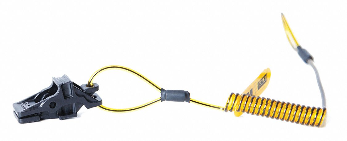 Tether,  Coiled Tether Style,  4 lb Weight Capacity,  PK 10