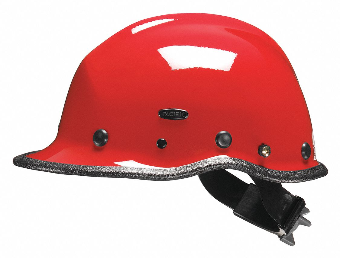 Red Rescue Helmet, Shell Material: Kevlar(R) Composite, Ratchet Suspension, Fits Hat Size: One Size