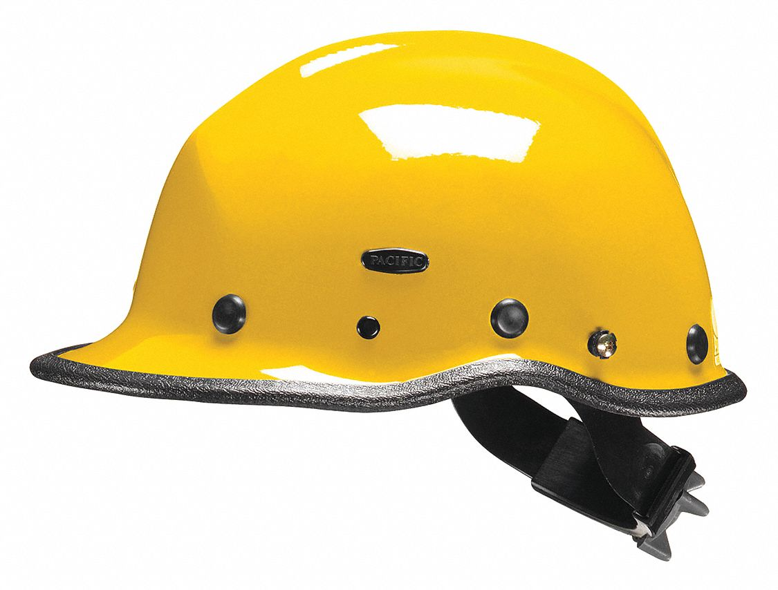 Yellow Rescue Helmet, Shell Material: Kevlar(R) Composite, Ratchet Suspension, Fits Hat Size: One Si