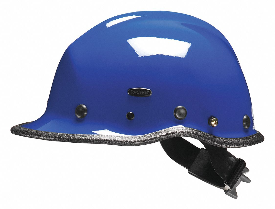 Blue Rescue Helmet, Shell Material: Kevlar(R) Composite, Ratchet Suspension, Fits Hat Size: One Size