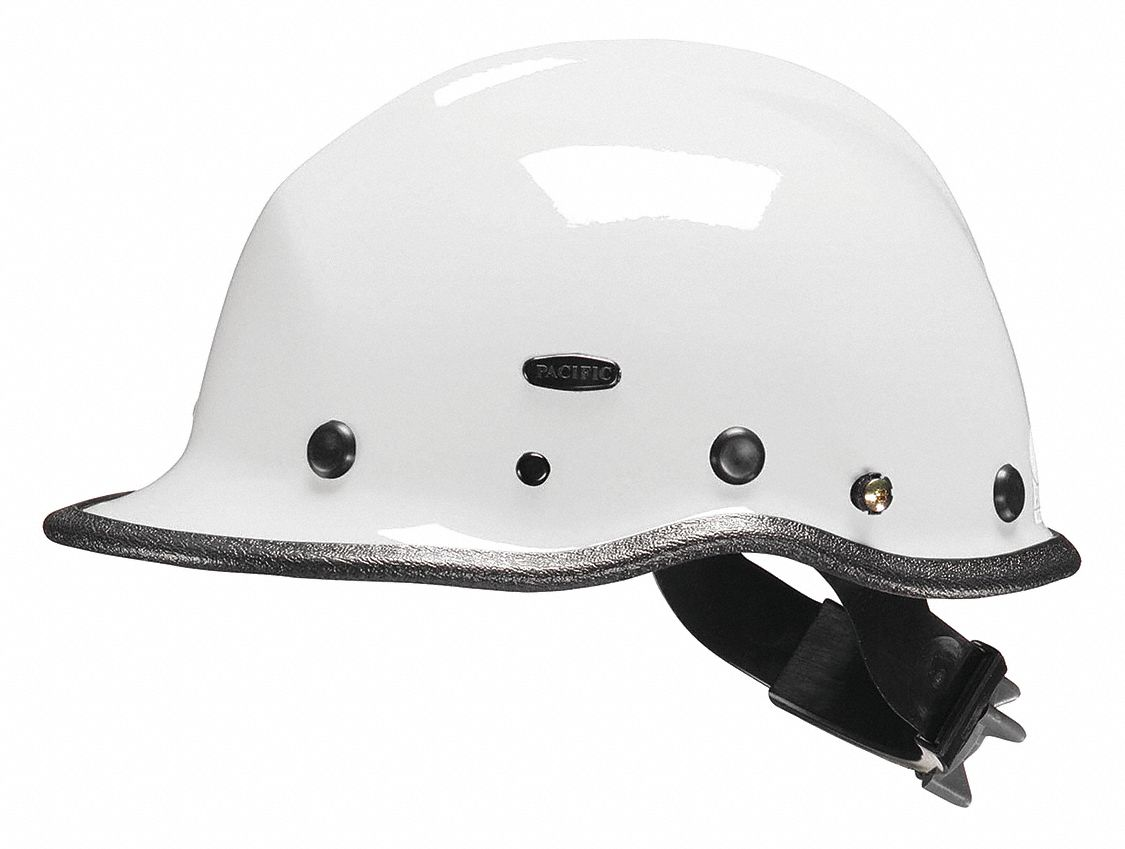 White Rescue Helmet, Shell Material: Kevlar(R) Composite, Ratchet Suspension, Fits Hat Size: One Siz