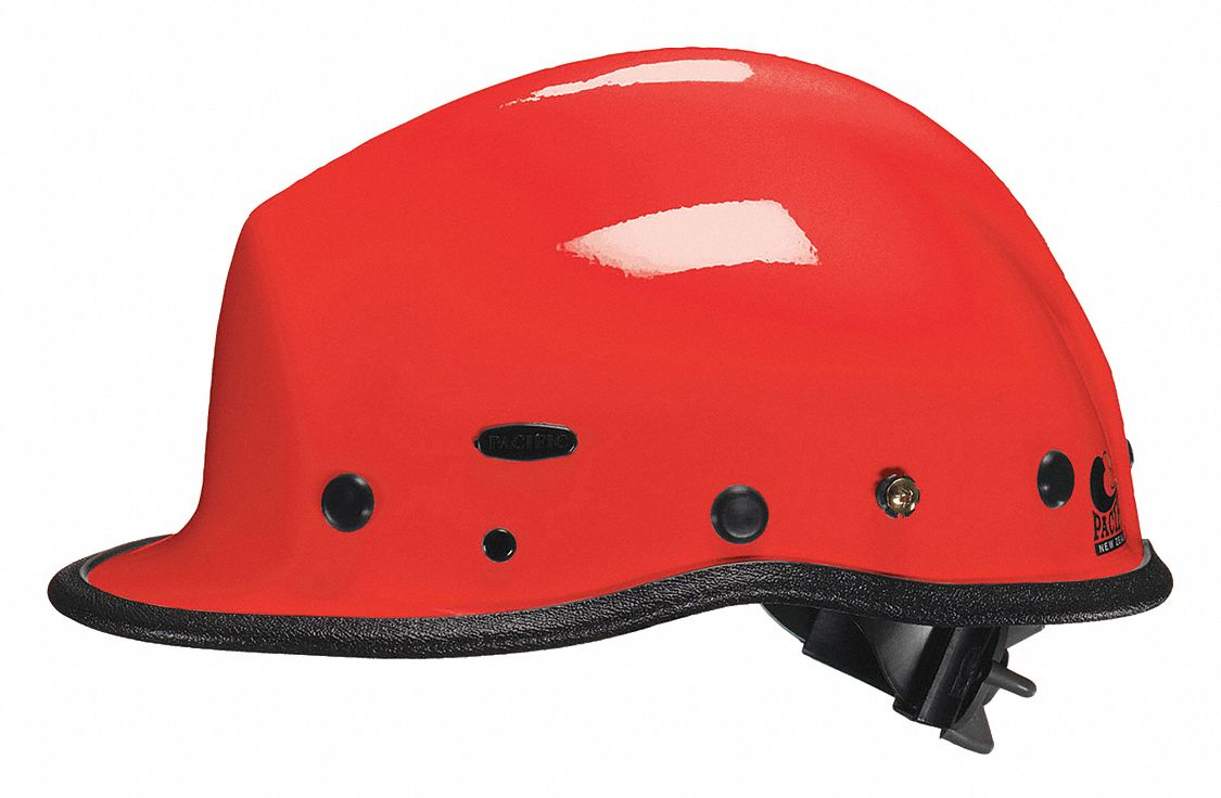 Red Rescue Helmet, Shell Material: Kevlar(R) Composite, Yes Suspension, Fits Hat Size: One Size Fits