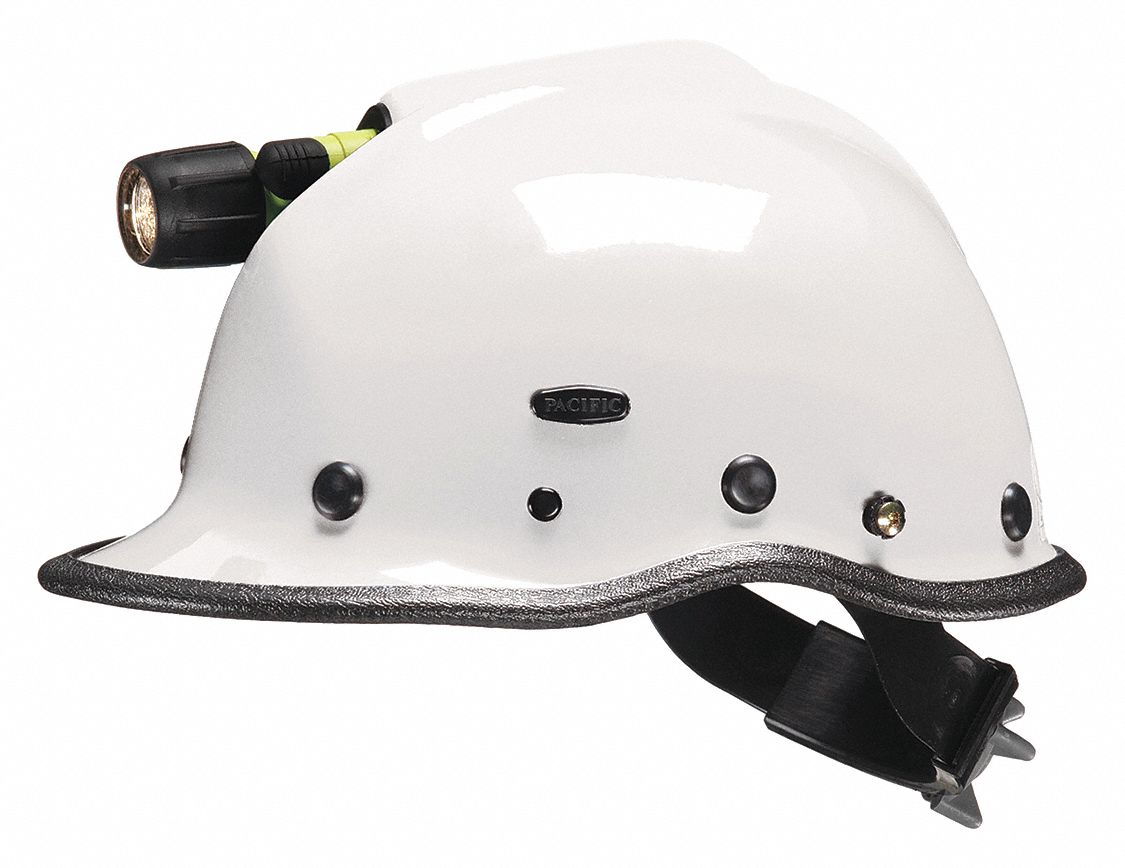 White Rescue Helmet, Shell Material: Kevlar(R) Composite, Yes Suspension, Fits Hat Size: One Size Fi