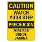 Caution/Precaucion: Watch Your Step/Mire Por Donde Camina Signs
