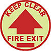 FLOOR SIGN,KEEP CLEAR FIRE EXIT,17