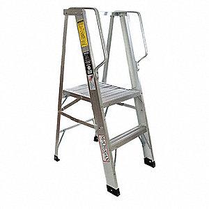 Aluminum Platform Stepladder 2 Ft Ladder Height