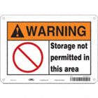 Warning: Storage Not Permitted In This Area Signs