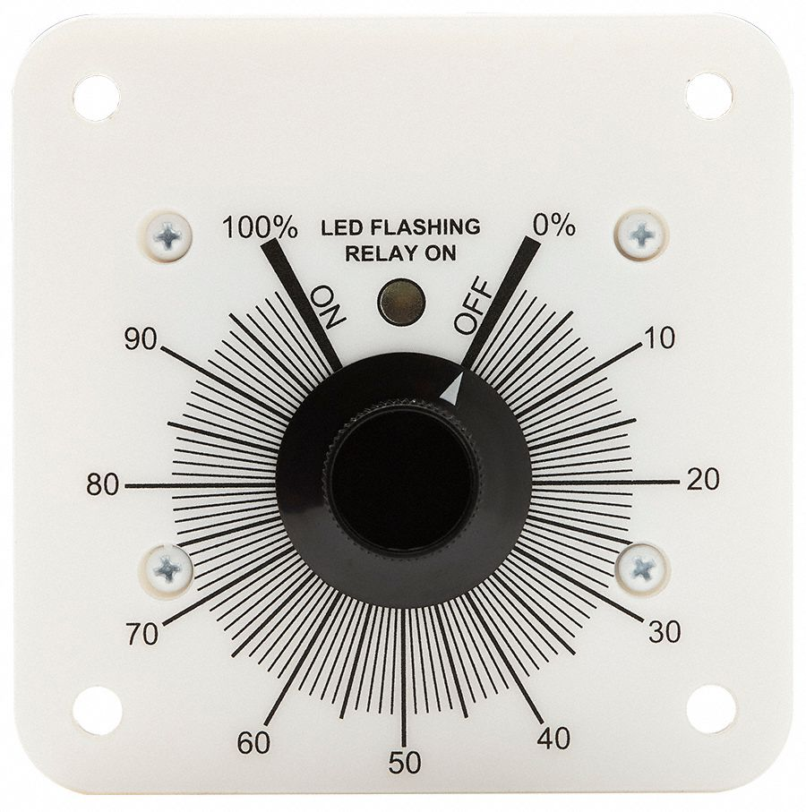 "Percentage Cycle Timer,10A,3-1/2"" W"