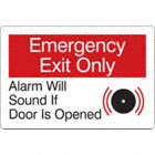 Emergency Exit Only: Alarm Will Sound If Door Is Opened Signs