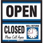 Open/Closed Please Call Again Will Return Signs