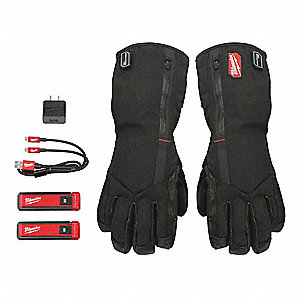 Heated Gloves, Blk, Up to 6 hr. Heating