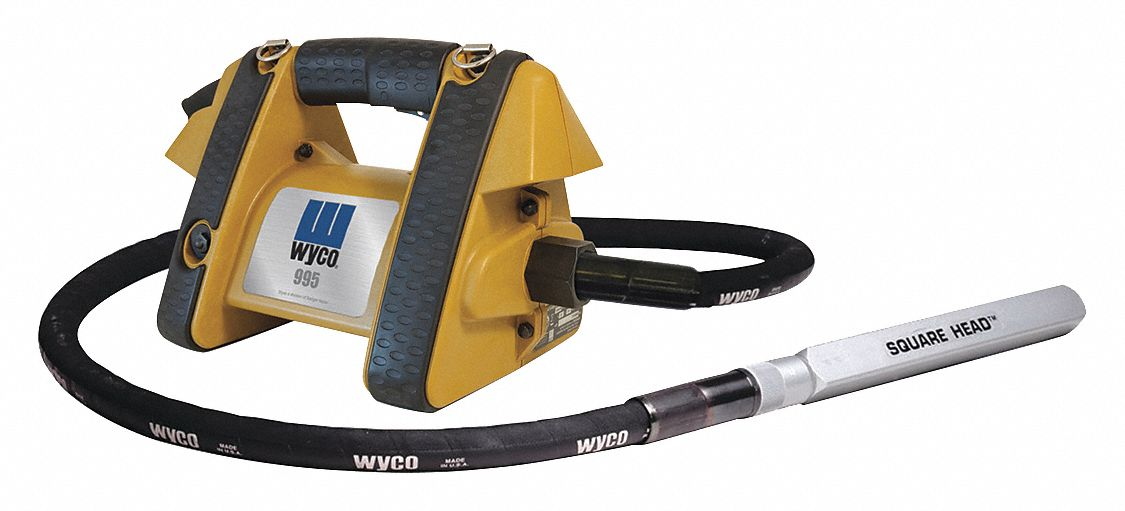 WYCO Electric Vibrator, Concrete, 14 ft L Shaft - 488H66 W995G1T-200-14 -  Grainger