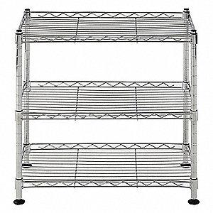 Free Standing Wire Shelving Units | Sandusky Freestanding Wire Shelving Unit 18 W X 10 D X 18 H 3