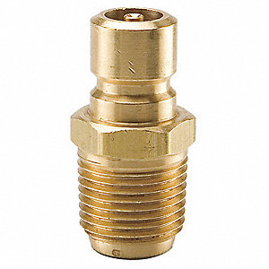 Coupler Nipple,3/8-18,3/8 In. Body,Brass