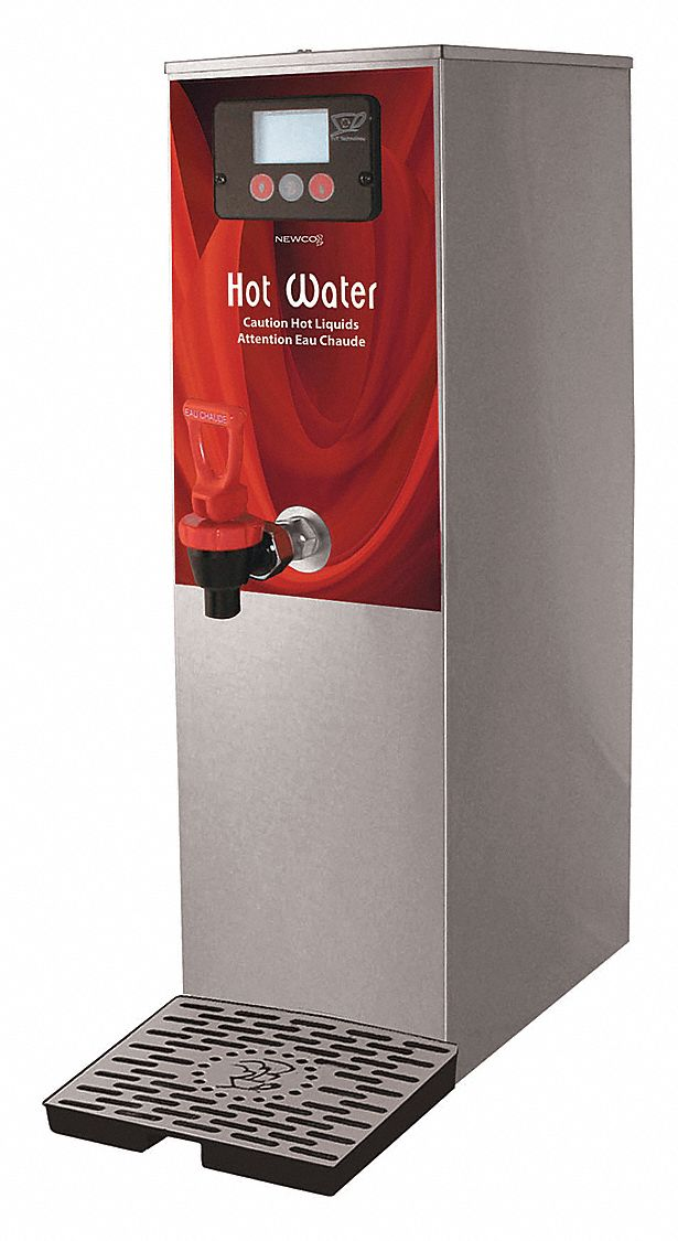 2 gal Commercial Hot Water Dispenser, Stainless Steel