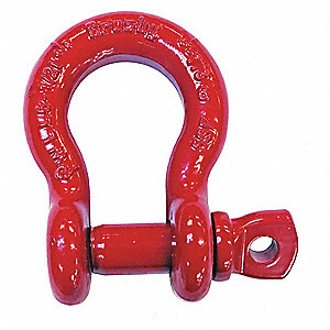 Shackle,1 in.,17,000 lb.,Screw Pin