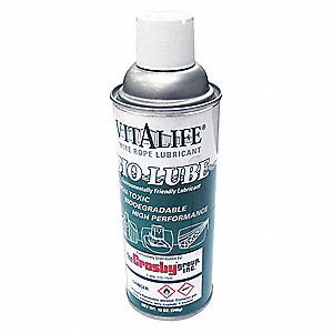 Chain and Wire Rope Lubricant, 12 oz. Aerosol Can, Clear Color