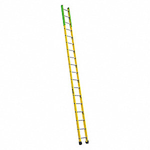 "18 ft. Fiberglass Manhole Ladder, 375 lb. Load Capacity, 14-1/2"" Overall Width, Rung Shape: Round"