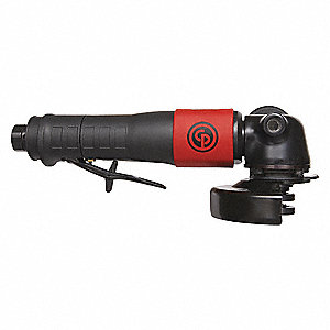 "12,000 rpm Free Speed, 4"" Wheel Dia. Angle Air Grinder, 1.10 HP"