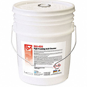 Acidic Cleaner, 5 gal. Pail, Unscented Foam, Ready To Use, 1 EA