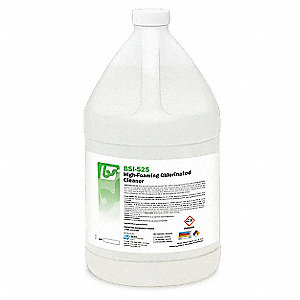 Chlorinated Cleaner, 1 gal. Bottle, Unscented Foam, Ready To Use, 4 PK