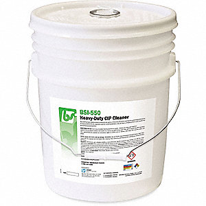 Caustic Cleaner, 5 gal. Pail, Unscented Foam, Ready To Use, 1 EA