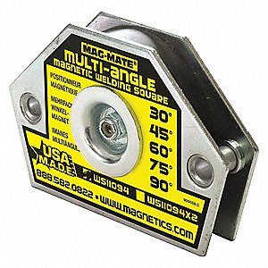 Magnetic Welding Square, 3 in. L, 55 lb.