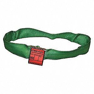 "16 ft. Endless - Type 5 Round Sling, 7/8"" Diameter, Color Code: Green, Polyester"