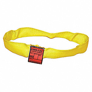 Round Sling,Endless,Yellow,4 ft. L