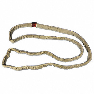 "8 ft. Endless - Type 5 Round Sling, 1-1/4"" Diameter, Color Code: Tan, Polyester"