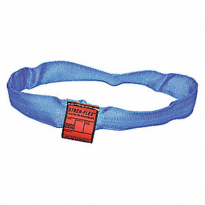 "10 ft. Endless - Type 5 Round Sling, 1-5/8"" Diameter, Color Code: Blue, Polyester"
