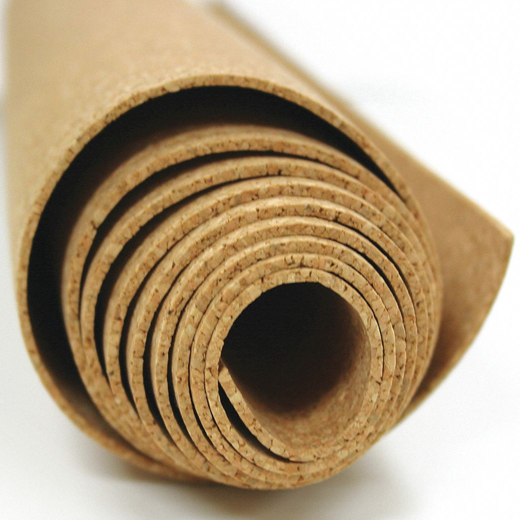 Roll Stock, Cork, 8 ft. L, 48 in. W