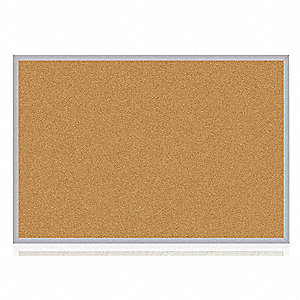 "Push-Pin Bulletin Board, Cork, 48-1/2""H x 120-1/2""W, Natural"