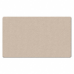 "Push-Pin Bulletin Board, Fabric/Fiberboard, 36""H x 46-1/2""W, Beige"