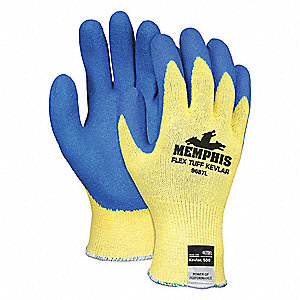 GLOVE,KEVLAR,YELLOW/BLUE,XL